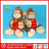 Jouet de peluche de jouet de Macaque de momie et de bébé