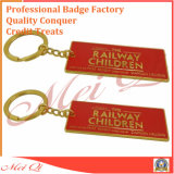 Anello portachiavi su ordinazione del metallo del 2D/disegno di marchio 3D per il regalo promozionale