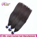 Minimum, das natürliches rohes indisches Haar der Farben-100% verschüttet