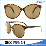 Grosse Katzenauge-Leopard-Druck-Rahmen-Sonnenbrillen mit Brown-Objektiv