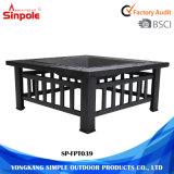 Table multifonctionnelle pour barbecue au barbecue et foyer avec cadre en acier
