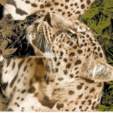 le léopard Pigment&Disperse de la jungle 100%Polyester a estampé le tissu pour le jeu de literie
