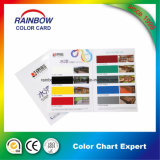 Catalogue personnalisé de couleur de peinture d'impression pliée