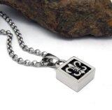 De vierkante Juwelen van de Manier van het Staal van het Titanium van de Tegenhanger van de Halsband van Mensen