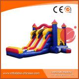 Il trampolino gonfiabile del PVC scherza il castello combinato della trasparenza rimbalzante (T3-003)