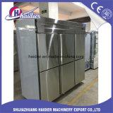 Strumentazione dell'alimento del ristorante per il frigorifero del congelatore con 6 portelli