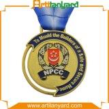 Médailles faites sur commande de sport avec la lanière