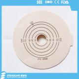 テープカラー(SKU2039057)が付いている20-57mm切られたサイズのHydrocolloid Colostomyのフランジ