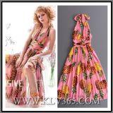 """Vestido doce cor-de-rosa moderno das senhoras """"sexy"""" elegantes por atacado do verão da forma"""