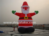 즐거운 성탄을%s 주문을 받아서 만들어진 옥외 거대한 팽창식 산타클로스