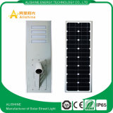 Diodo emissor de luz solar ao ar livre todo da luz de rua 50W do diodo emissor de luz 60W 100W 120W em uma luz de rua solar