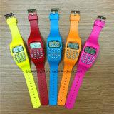 Relojes pomiformes promocionales de la calculadora del reloj de Digitaces de los cabritos para los niños