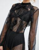 Tejido de malla de puntos para el vestido de novia a bajo coste
