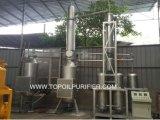 ディーゼルおよび基礎オイル(EOS-30)へのエンジンオイルのリサイクリング・システム