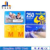 Papel cuché Serigrafía tarjeta RFID inteligente de billetes de viaje