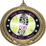 De aangepaste Houder van de Giften van de Medaille van het Ijzer van de Eer van het Metaal van de Marathon van de Sport Militaire