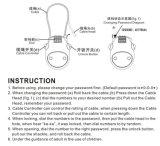 Bloqueo portable del cable de la combinación de Retractable& Resetable para el equipaje (1819)