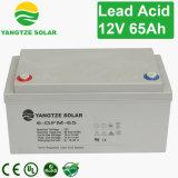 Bateria de ácido-chumbo recarregável selada 65ah 12V para Telecom / UPS / Sistema Solar