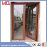 Portes en aluminium extérieures de double vitrage d'usine de la Chine