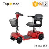 Scooter électrique détachable pliable de mobilité de quatre couleurs pour Handicapped