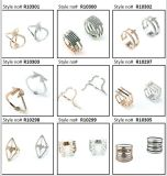 결혼식 (R10399)를 위한 선물 형식 반지로 중국 도매 925 순은 또는 구리 스테인리스 모조 보석