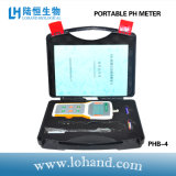 Medidor de pH portátil com calibração automática em baixo preço (PHB-4)