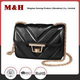 Cadeia de metal portátil Fornecedor Shenzhen PU Leather Senhoras mala
