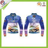 صنع وفقا لطلب الزّبون متأخّرة قميص تصاميم لأنّ رجال ساكن هواي أسلوب زاويّة طبعة صيد سمك قميص