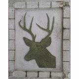 Украшение лося металлической пластинкы искусствоа стены украшения Home&Garden античное вися