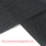 Slue teñida de hilo tejido de lino tejido de algodón para la falda de vestir prendas textiles de inicio