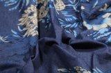 Мягкая ткань платья джинсовой ткани печати 100%Cotton Handfeel обыкновенная толком