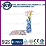 Impression de logo réutilisable Vase pliable en plastique pour décoration de fleurs