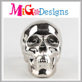 Caixa de moedas de cerâmica com uso de crânio na moda para economizar dinheiro