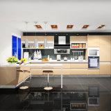 2017년은 새로 반대로 부서지는 높은 광택 래커 부엌 찬장을 디자인한다