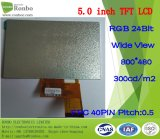 """5,0 """"800 * 480 RGB 40 pouces Affichage large 300CD / M2 TFT LCD Display"""