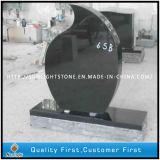 Pietra tombale nera assoluta nera del granito di Polishsed Shanxi