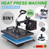 8 em 1 Transferência de Calor por sublimação de tinta digital Pressione a máquina para T-shirt Caneca Hat Cap