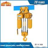 Élévateur à chaînes électrique d'automne à chaîne unique avec la suspension de crochet
