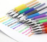 La qualité de vente chaude d'Amazone a coloré le seul jeu de crayon lecteur de gel d'extrémité de point de bille d'encre de crayon lecteur de gel de la couleur 100