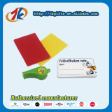 Árbitro de plástico Sports Whistle Red and Yellow Card Toy