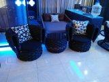 Jogos de vime da mobília do Rattan do pátio do assento do sofá do restaurante do Rattan ao ar livre do PE do pátio