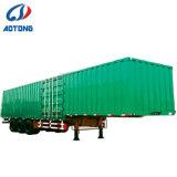 Les essieux 2/3 40ft cargo transportant Van semi-remorque fermée