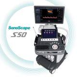 セリウムのFDAのマーク付き4DトロリーカラードップラーSonoscape S50高品質のSonoscapeのEchography 4Dの超音波機械