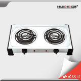 fogão dobro duplo do Portable da placa quente do Hob 1000W+1500W gêmeo elétrico