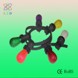 O bulbo colorido verde do diodo emissor de luz E12 C7 para o feriado decora a iluminação