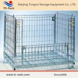 Recipiente de armazenamento/gaiola Foldable de aço para o armazém