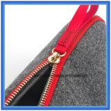 Einfacher Entwurfs-Wollen geglaubter beweglicher kleiner Speicher-Handbeutel, Förderung-Geschenk-Beutel/kosmetischer Beutel mit Reißverschluss