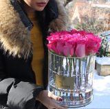 Cadre rond de fleur empaquetant le cadre acrylique de fleur de Rose, cadre de tulipe