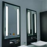Miroir allumé par toilette rond de regain éclairé à contre-jour par DEL de forme de villas librement