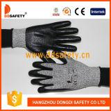 Ddsafety schwarzes Nitril beschichteter Schnitt-beständiger Handschuh